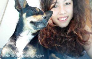 Daniela Carrano e il cane Alex