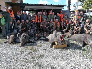 San Martino al Cimino - Battuta di caccia al cinghiale record in località Madonnina dei Cimini