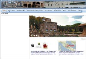 Il sito internet del comune di Viterbo