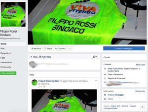 """La pagina Facebook """"Filippo Rossi sindaco"""""""