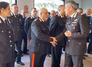 Il generale Andrea Rispoli, comandante della legione carabinieri, in visita alla compagnia di Montefiascone
