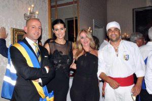 Alice Sabatini con il presidente del consiglio Marco Ciorba il 3 settembre