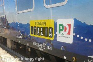 Il treno di Matteo Renzi a Civita Castellana