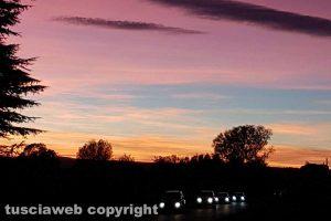 Il tramonto sul lago di Bolsena