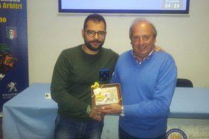 Sport - Calcio - Cristiano Partuini in visita agli arbitri viterbesi