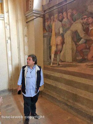 Renato Brunetta a Sipicciano visita gli affreschi della chiesa