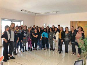Viterbo - L'assessora Alessandra Troncarelli al corso per assistente familiare