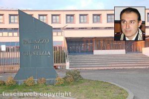Viterbo - Tribunale - Nel riquadro Massimo Cuneo
