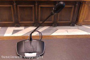 Viterbo - Consiglio comunale - Il nuovo impianto audio