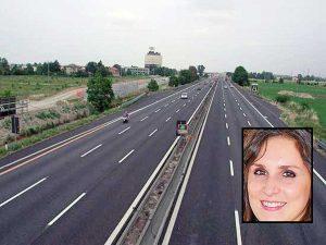 L'autostrada del Sole - Nel riquadro: Raffaella Ermini