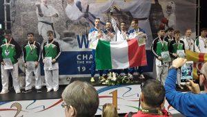 Sport - Vitorchiano - Emanuele Brunelli vince l'oro nel kumite a squadre