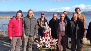 Marta - I pescatori con la statua di S. Andrea