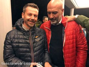 Sergio Pirozzi con il sindaco di Tuscania Fabio Bartolacci