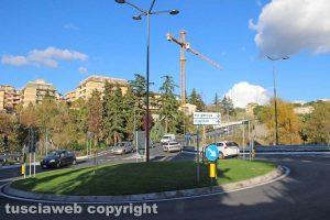 Viterbo La rotatoria di via Genova