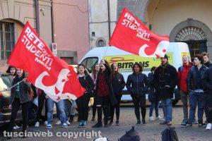 Viterbo - La manifestazione degli studenti