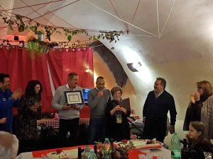 Canepina - La cena per il pensionamento di Eva Ferri e Domenico Pizzi