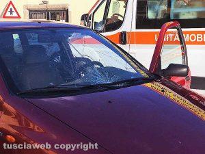Viterbo - Donna investita da un'auto alla Quercia
