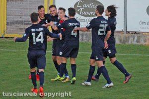 Sport - Calcio - Viterbese - L'esultanza di Vandeputte