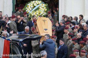 Gallese - I funerali del parà Tiziano Celoni