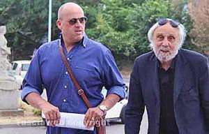 Paolo Gianlorenzo con l'avvocato Franco Taurchini