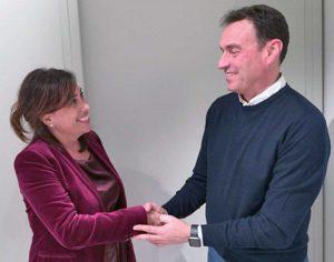 Martina Salza col coordinatore provinciale Dario Bacocco
