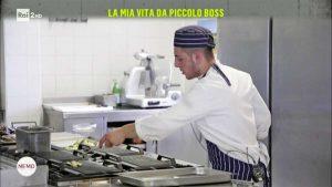 Davide in cucina a Tuscania