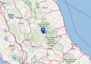 Accumoli - La scossa di magnitudo 2,5 del 6 novembre 2017