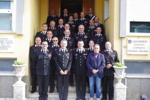 Il generale Andrea Rispoli in visita a Tuscania