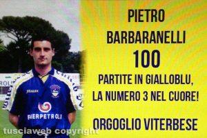Sport - Calcio - Viterbese - La bandiera dedicata a Pietro Barbaranelli
