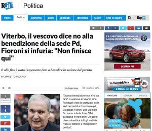 Giuseppe Fioroni si infuria con il vescovo di Viterbo - La notizia su Repubblica
