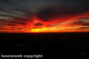 Un tramonto viterbese