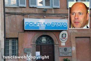 Tarquinia - Il commissariato di polizia - Nel riquadro Fabio Zampaglione