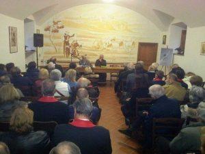 Un momento della conferenza su Chiti a Orvieto