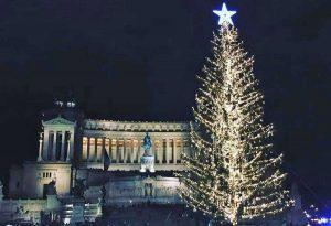 Roma - L'albero di Natale a piazza Venezia