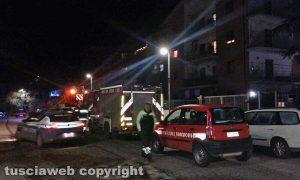 Viterbo - Via Santa Lucia - I Vigili del fuoco sul posto- Si ipotizza il duplice omicidio