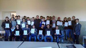 """Consegnati 25 attestati agli alunni dell'istituto tecnico """"P. Canonica"""""""