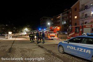 Viterbo - Delitto di Santa Lucia - Polizia e vigili del fuoco