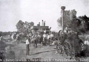 Farnese- Come eravamo - 1900 - Trebbiatura del grano