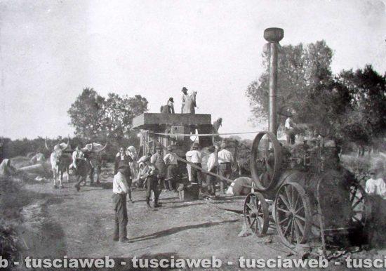 Farnese - Come eravamo - 1900 - Trebbiatura del grano