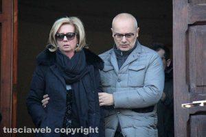 Viterbo - Delitto di via Santa Lucia - I funerali dei coniugi Fieno - La figlia Annarita