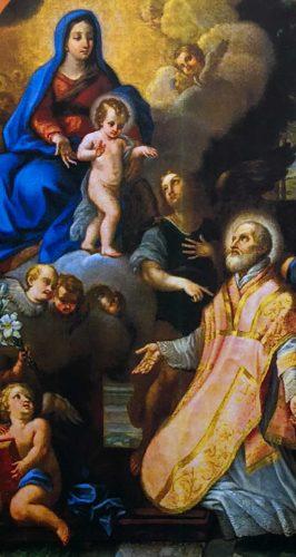 """La tela settecentesca """"Madonna con Bambino appare a San Filippo Neri"""""""