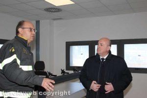 Il prefetto Bruno e il comandante Paduano nella sala operativa