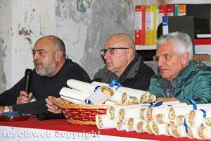 Viterbo - santa Rosa - Lo scambio degli auguri di Natale dei facchini