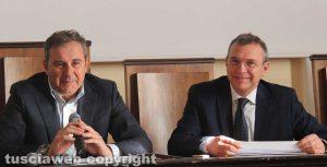 Camera di commercio - Il presidente Domenico Merlani con Luigi Pagliaro