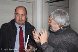 Nicola Zingaretti col direttore di Tusciaweb Carlo GaleottiNicola Zingaretti col direttore di Tusciaweb Carlo Galeotti