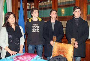 Patrizia Lombardi con Francesco Sgherzi, Luca Scugliani e Roberto Tedeschi