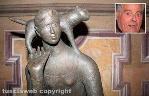 Viterbo - Una scultura del maestro Alessio Paternesi