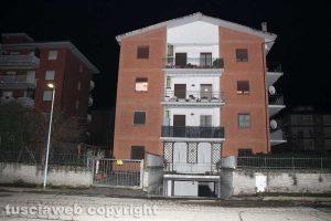 Viterbo - Via Santa Lucia - Duplice omicidio - La palazzina dove è avvenuto il delitto