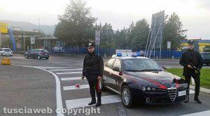 Orte - I carabinieri al casello dell'autostrada