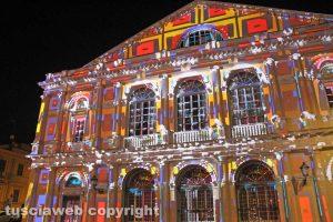 Viterbo - Il video mapping del 2017 sul teatro Unione